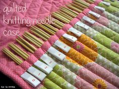 kai ta hetera: quilted don knitting needle case