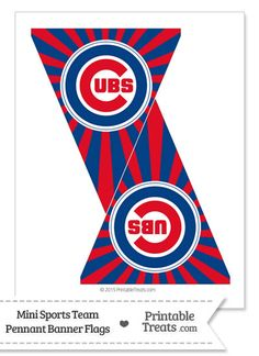 Chicago Cubs Mini Pennant Banner Flags