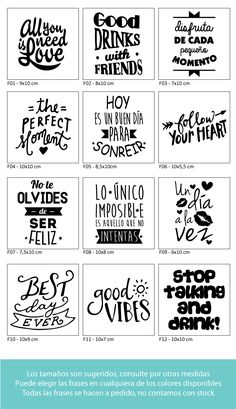 – USD in Mercado Libre Plotter Silhouette Cameo, Foto Transfer, Project Life, Word Art, Stencils, Typography, Positivity, Printables, Letters
