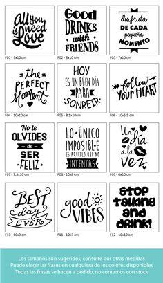 Vinilos Frases Para Frascos - Autoadhesivos! - $ 12,00 en Mercado Libre