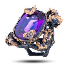 """Эксклюзивное кольцо """"Доротея"""" """"Denisov & Gems"""". Авторские кольца Бренд """"Vida Maestro"""" с драгоценными камнями самоцветами (арт. 79387)"""