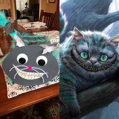 Cheshire Cat Valentines Day Box! Valentine Day Boxes, Cat Valentine, Cheshire Cat, Potato Chips, Holidays, Cats, Animals, Holidays Events, Gatos