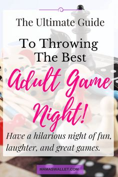 Adult Game Night Party, Games For Ladies Night, Couples Game Night, Game Night Parties, Family Game Night, Games For Girls, Ladies Night Party, Game Night Food, Girls Fun