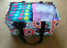 16 beach towels in the Thirty-one  deluxe utility  tote