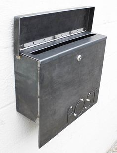 The Gibson Mailbox – Custom – Steel Modern Metal Letter Box Contemporary Personalized Metal Post Box Address Numbers Wall Mount – How To Build a Fence Wall Mount Mailbox, Mounted Mailbox, Post Box Designs, Modern Mailbox, Metal Mailbox, Mailbox With Lock, Custom Mailboxes, Lampe Decoration, Steel Mill