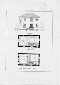 Ville e villini : raccolta di progetti e vedute di ... | Martinenghi, R.