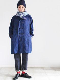 maillot (マイヨ)  Indigo Linen Marine Coat (インディゴリネンマリンコート)
