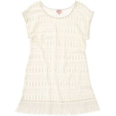 Stella & Dot Lace Tunic ($98) ❤ liked on Polyvore featuring tops, tunics, crochet lace tunic, white tunic, white crochet top, cream tunic and boat neck tunic