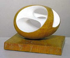 "Barbara Hepworth  ""Working in the abstract way seems to release one's personality and sharpen the perceptions so that in the observation of humanity or landscape it is the wholeness of inner intention which moves one so profoundly. The components fall into place and one is no longer aware of the detail except as the necessary significance of wholeness and unity… …a rhythm of form which has its roots in earth but reaches outwards towards the unknown experiences of the future..."