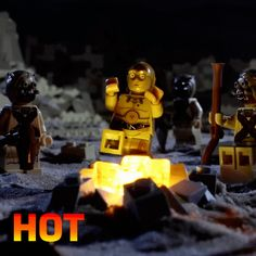 New party member! Tags: disney star wars hot fire lego burn flame camp spicy droid c3po hot hot hot
