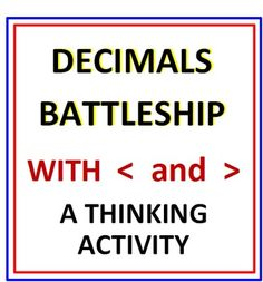 Decimals Battleship (Comparing Decimals with Greater Than Less Than) Comparing Decimals, Decimals Worksheets, Self Defense Classes, Kids Mma, Greater Than, Losing 10 Pounds, Battleship, Teaching, Activities