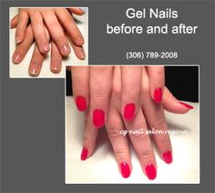 Gel Nails With Shellac Nail Color Wiildfire Stunning Look Cg Salon Regina
