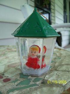 Vintage Christmas Snow Globe ~ Little Girl Snow Globe Ornament