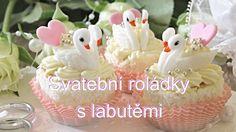 Svatební roládky s labutěmi / Helenčino pečení Frosting, Food And Drink, Pudding, Sweets, Candy, Cookies, Youtube, Cupcake, Recipes