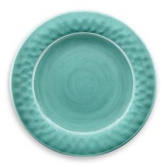 Crackle Glaze 12 Piece Melamine Dinnerware Set in Turquoise by TarHong #TarHong