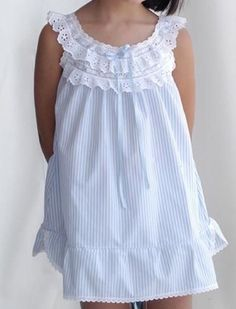 Cute and comfy Frocks For Girls, Little Girl Dresses, Girls Dresses, Frock Design, Baby Girl Fashion, Kids Fashion, Kids Frocks Design, Sewing Kids Clothes, Night Dress For Women