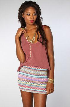 Missoni can't be credited enough. The Tribal Skirt in Blue by Reverse @karmaloop