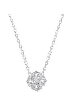 Tiny flower Necklace white gold and diamonds www.stoneparis.com