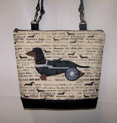 Custom order Special Needs Dachshund Handbag by Oscars Creations!