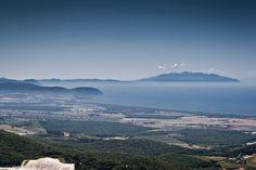 Populonia e l'isola d'Elba dal Romitorio.  shoot by Francesco Venturini