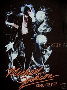 KING OF POP MICHAEL JACKSON SMOKE T SHIRT MENS X LARGE