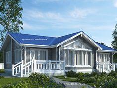 Одноэтажный дом из бруса 10х16 (Проект ДБ-5)