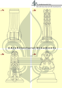 Drawings made by Architectural Ornaments Human Mind, Art And Technology, Historical Architecture, Habitats, Vectors, Ornaments, Drawings, Pattern, Design