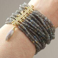 "Custom Made ""Aurora Borealis"". Labradorite Multi-Strand Bracelet"