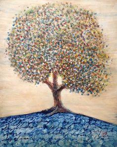 Artist : Rosendo Vega / Title : El Árbol del Escriba / Dimensions : 100 x 80 cms / Technique : Oil Paint on Canvas / Year : 2015 / Status : Sold / Price : MXN 25,000