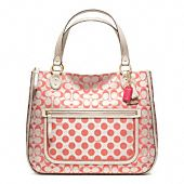 POPPY SIGNATURE C DOT HALLIE TOTE  Cute bag, and not badly priced at $200