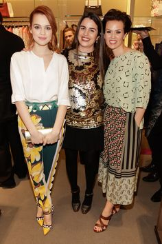Emilia Schule, Veronica Etro and Melika Foroutan at the opening of the Etro Boutique in Berlin at the Friedrichstrasse 71 Lace Skirt, Sequin Skirt, Berlin, Cinema Actress, Veronica, Cool Style, Actresses, Boutique, Sewing
