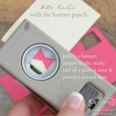 create a kite tail or a bow tie with the banner punch - Krista Frattin