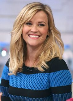 Reese Witherspoon smiled wide during her appearance on Good Morning America on Wednesday.