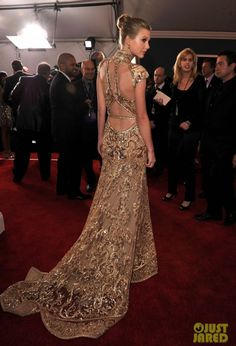 Taylor Swift at the 2012 Grammy Awards show.