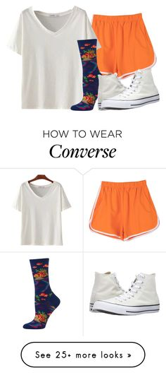 """"""""""" by sydthekyd01 on Polyvore featuring HOT SOX and Converse"""