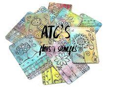 SCRAPBOOK: ATC'S FLORS I SANEFES. | Les Antònies