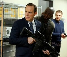 Clark Gregg, BJ Britt & Iain De Caestecker star as Agents Couslon, Triplett & Fitz in Marvel's Agents of S.H.I.E.L.D.