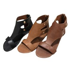 7df6abe3e Chellysun Women s Rome Gladiator Ankle Strap Flat Leather Sandals  sandals   flat  summer