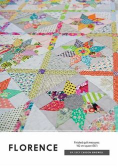 Reminiscent of flowers growing up a lattice in the garden. The finished quilt measures 56 inches by 56 inches. Need acrylic templates as well? Order this inste