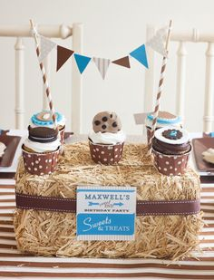 Vintage Milk & Cookies Party Centerpiece Idea