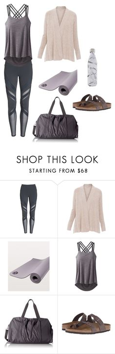 yoga by alexnicolebrown on Polyvore featuring Kinross, Alo, prAna, Birkenstock, Baggallini and S'well