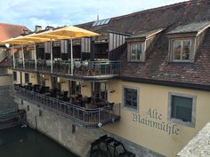 Charming restaurant overlooking the Main River.