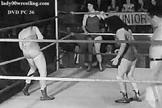 Vintage Women Pro Wrestling DVD Tag Team Match 50s Pictures