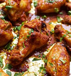 These Baked Tandoori Chicken Wings are filled with flavor and healthier because they are baked, not fried. Serve at your next get together!