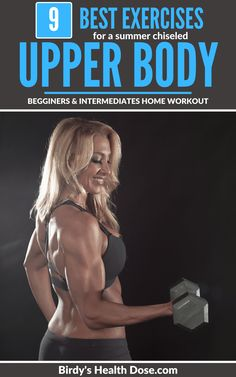 Who doesn't love to have toned arms with well-defined muscles? Today I propose the best 9 exercises for beginners and intermediate which will help you prepare for a summer chiseled upper body. Health And Nutrition, Health Care, Health Fitness, Fit Board Workouts, At Home Workouts, Fitness Facts, Body Motivation, Workout For Beginners, Pick One