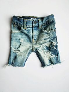 e83da73e0c Acid Washed Dark Wash Distressed Shorts for Boys // Babies, Toddlers, and  Kids // inspired shorts // Grunge Style // Hipster Kids