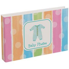 Give the parents to be a special place to hold photos of the new little one. This album coordinates with all of our Baby Clothes party supplies. Each photo album hold 36 x photos.