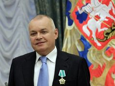 """A Russian news presenter, dubbed the """"Kremlin's chief propagandist"""", has warned the United States any """"impudent behaviour"""" towards Moscow could have """"nuclear"""" implications. Dmitry Kiselyov, who was appointed by Vladimir Putin to head the country's government-owned news agency, made the warning on Monday night's edition of his flagship current affairs programme Vesti Nedeli (News of the Week)."""