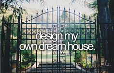 Not no big mansion type house But a small country type house with a Huge yard and a wrap around porch with a porch swing :) One of those types!