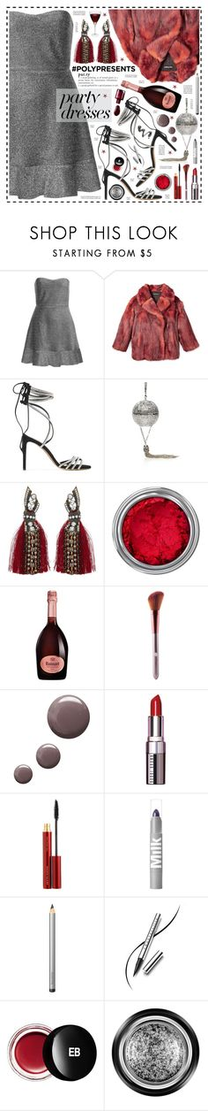 """Dance the Night Away!"" by hennie-henne ❤ liked on Polyvore featuring Topshop, Alexandre Vauthier, Judith Leiber, Concrete Minerals, Ruinart, Bobbi Brown Cosmetics, Kevyn Aucoin, Laura Mercier, Chantecaille and Edward Bess"